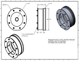 23 inch REVERSE PRESSURE PLUG illustration